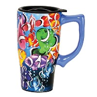 Spoontiques Tropical Fish Travel Mug ,マルチカラー