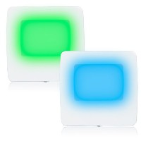 Maxximaグリーン/ブルーLED Night Light withスイッチ( Pack of 2 )
