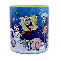 シルバーBuffalo sg5034 Nickelodeon Spongebob Squarepants Cast under waterセラミックマグ、20オンス、マルチカラー