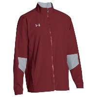 アンダーアーマー メンズ アウター ジャージ【Under Armour Team Squad Woven Warm Up Jacket】Cardinal/Steel