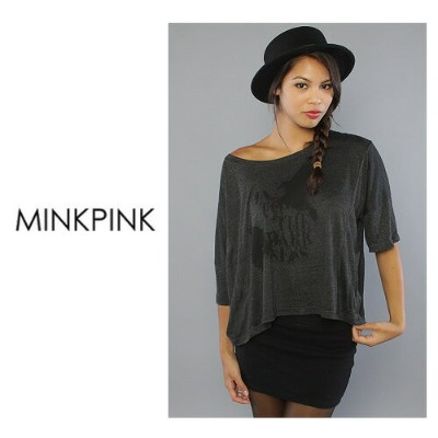 MINK PINK ミンクピンク The Darkness Tee ビッグTシャツ  正規品取扱店舗