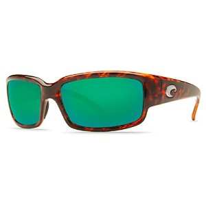 COSTA DEL MAR CABALLITO TORTOISE W/ GREEN MIRROR POLARIZED 580G LENS SUNGLASSES
