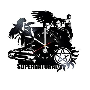 Supernatural Handmade Vinyl Record Wall Clock