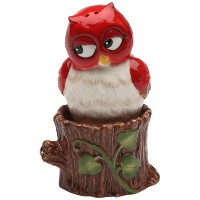 Cosmos Gifts 10908 Owl on tree Salt and Pepper Set , 3-inch