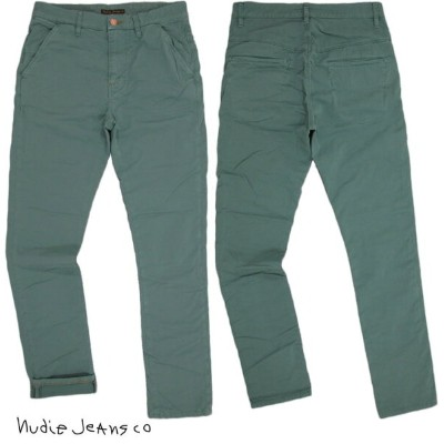 Nudie Jeans co/ヌーディージーンズ KHAKI SLIM/カーキスリム TIGHT LOW YOKE NORMAL WAIST NARROW LEG JADE GREEN DYE...