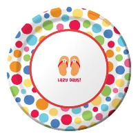 Creative Converting 8Count Round Paper Dessert Plates、Lazy Days