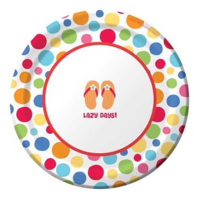 Creative Converting 8 Count Round Paper Dessert Plates、Lazy Days