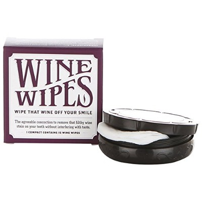 Wine Wipes - 1 Boxes of 15 Individual Wipes