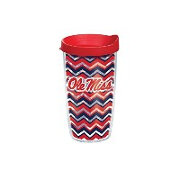 Tervis Mississippi Chevron Wrap Tumbler withレッド蓋、16オンス、クリア