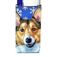 Corgi Winter Snowflakes Holiday Ultra Beverage Insulators forスリム缶lh9588muk