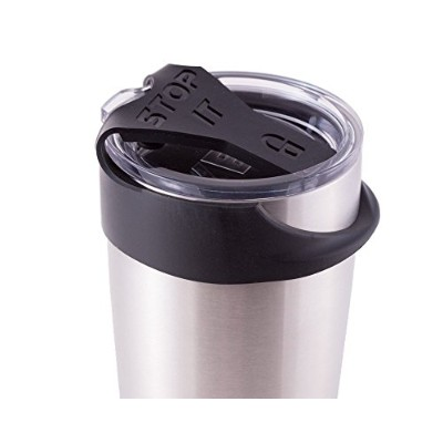 Black STOP IT - No Spill (fits 890ml YETI) - a Leak or Spill Proof Lid (890ml, Black)