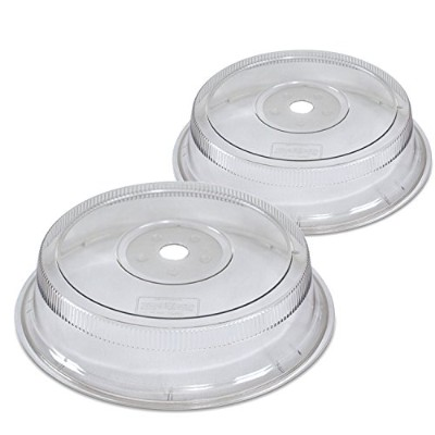 (28cm , 2-Pieces) - Nordic Ware Deluxe Plate Covers, 2 Pack, 28cm , Clear
