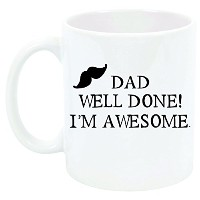Dad well done私はAwesomeFunnyマグ父の日誕生日新しいDad