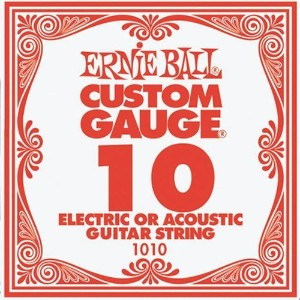 ERNIE BALL エレキギター弦 バラ弦 1010 .010 6本セット【国内正規品】アーニーボール
