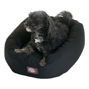 24 inch Black Bagel Dog Bed By Majestic Pet Products by Majestic Pet