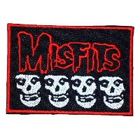 MISFITS Band Logo Songs t Shirts MM45 Embroidery Iron on Patches by MartOnNet Music Patch