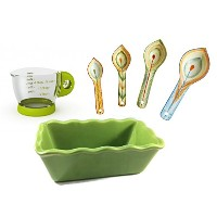セラミックMini Loaf Pan , Measuring Spoons、Mini Measuring Cupメイト