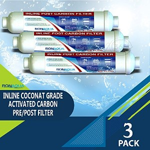 t33インラインCoconut Grade Activated Carbon Pre / Post膜フィルタの味と臭気Reduction RA-3T33