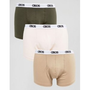 asos trunks with branded waistband 3 pack save エイソス ナイトウエア インナー 下着