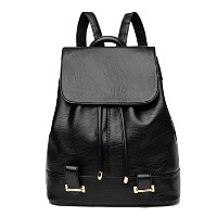 Zhhlinyuan 高品質の Casual Travel PU Leather Bags Backpack Female Drawstring Shoulder Bag Outdoor...