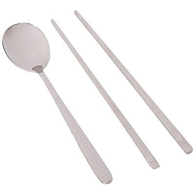 1 X Stainless Steel Chopstick & Spoon Set by Happy Sales