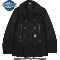 "BUZZ RICKSON'S/バズリクソンズ ENLISTED MAN OVERCOAT type BLACK PEA COAT 36oz. WOOL MELTON ""William Gibson..."
