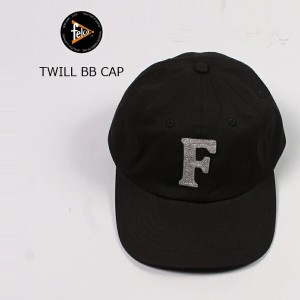 FELCO (フェルコ) TWILL BB CAP - BLACK / F LT GREY