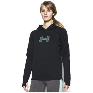 アンダーアーマー レディース パーカ&スウェット アウター Women's Under Armour Storm Armour Fleece Logo Hoodie Black/Crystal