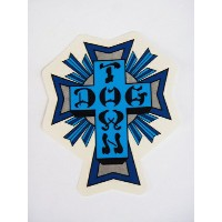 DOG TOWN ドッグタウン BLUE CROSS STICKER-M-