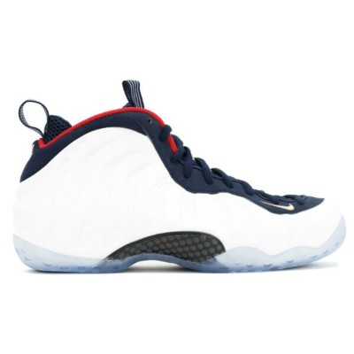 "Nike Air Foamposite One PRM ""OLYMPIC"" メンズ obsidian/white/university red/metallic gold ナイキ エアフォームポジット..."