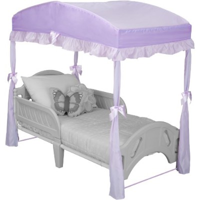 Delta Children Girls Canopy for Toddler Bed, Purple by Delta