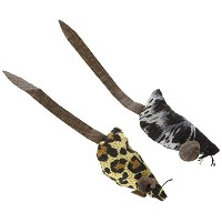 Ethical Products Spot Crazy Mice Faux Leather Tail & Catnip Durable Cat Toy 2pk