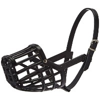 Leather Brothers Italian Basket Dog Muzzle, Black, Size 9 by Leather Brothers