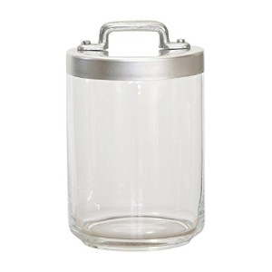 OTTINETTI GLASS JAR WITH BRUSHED ALUMINUM蓋、1リットル