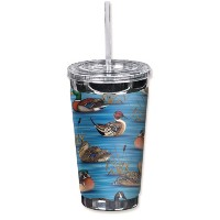 Mugzie 1211-tgc「Ducks II」to Go Tumbler with Insulatedウェットスーツカバー、16オンス、ブラック