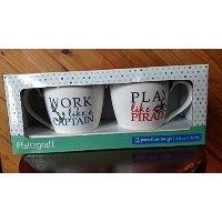 Pfaltzgraff Play Work Mug Set