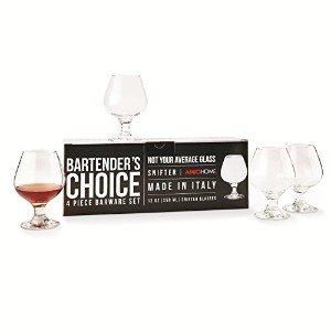 グローバルAmici Bartenders Choice Footed Snifterガラス – 4のセット 12 oz 7AB100R