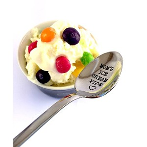 spoon-mom 's Ice Cream Plow by weenca-engraved spoon-gifts for Mom