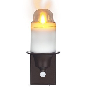 Comerzar LED PIRセンサーSpokaナイトライトFlameless Candle withバッテリー電源Operated Sensing Anywhere LEDスティックNightli...
