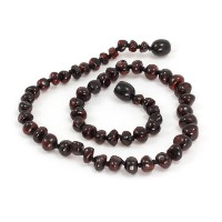 Momma Goose Teething Necklace, Cherry, 21 by Momma Goose