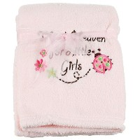 Little Beginnings Thank Heaven for Little Girls Baby Blanket - light pink, one size by Cudlie