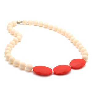 Chewbeads Greenwich Teething Necklace, 100% Safe Silicone - Ivory by Chewbeads