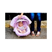 Carseat Canopy - The Whole Caboodle 5PC set - Baby Infant Car Seat Cover with complete matching set...