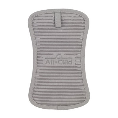 All-Clad Textiles Heavyweight 100-Percent Cotton Twill and Silicone Pot Holder, Titanium by All...