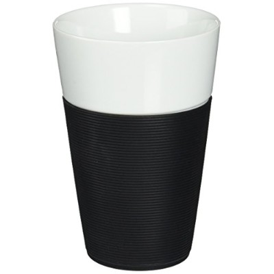 Bodum Bistro 2 Piece Mug with Silicone Sleeve, 0.6 L, Black by Bodum
