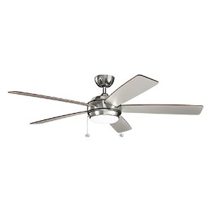 """Kichler 330180Canfield 60"""" 5Blade Ceiling Fan withブレードとLEDライトキット、 330180PN 1"""