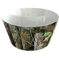"Camo Serving Bowl 11 "" x 6 "" High ( 2パック)"