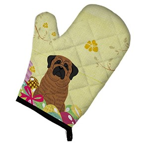 "Caroline 's Treasures Easter Eggs Mastiff Brindleオーブンミット、マルチカラー、12 "" x 8.5 """