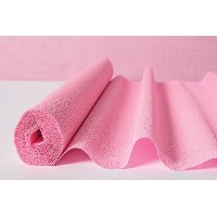 Luna Bazaar Premium Heavy Italian Crepe Paper Roll (20 Inches x 8 Feet, Bambina Pink) - For DIY...