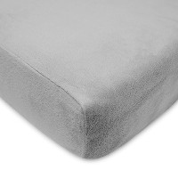 American Baby Company Heavenly Soft Chenille Fitted Crib and Toddler Sheet, Steel Gray by American...